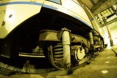 La parte más inferior del coche de subterráneo del ` s de Moscú Foto de archivo libre de regalías