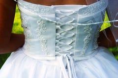 La parte posterior de la novia Imágenes de archivo libres de regalías