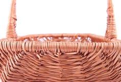 La parte posterior del lado de la cesta de mimbre Foto de archivo