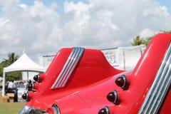 La parte posterior detalla el coche alemán raro con los tailfins foto de archivo