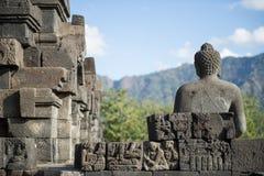 la parte posteriore del Germoglio-da, Borobudur Fotografie Stock