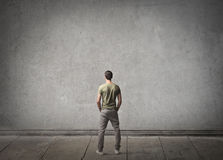 La parte posteriore dell'uomo Fotografia Stock Libera da Diritti