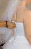 La parte posteriore della sposa immagine stock libera da diritti