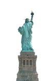 La parte posteriore della statua della libertà sopra sul percorso di ritaglio bianco Fotografie Stock Libere da Diritti