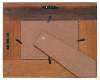 La parte posteriore di un telaio di legno Immagini Stock Libere da Diritti