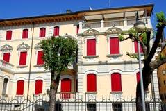 La parte posteriore di una costruzione in Motta di Livenza nella provincia di Treviso nel Veneto (Italia) Fotografie Stock