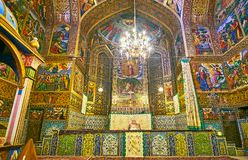 La parte principale della cattedrale di Vank, Ispahan, Iran Immagine Stock