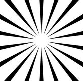 La parte radial alinea el starburst, modelo del resplandor solar Circul blanco y negro ilustración del vector