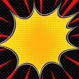 La parte radial del estilo del arte pop del super héroe de la explosión del cómic alinea el fondo Manga o marco de la velocidad d stock de ilustración