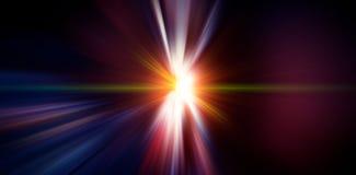 La parte radial ligera de destello coloreó rayos Fondo enmascarado fotografía de archivo libre de regalías