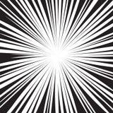La parte radiale in bianco e nero del libro di fumetti allinea il fondo Immagini Stock