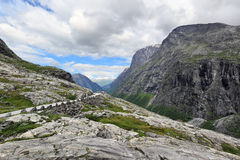 La parte superior del camino Trollstigen (Noruega) Fotos de archivo libres de regalías