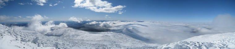La parte superiore del Mt Washington Immagine Stock