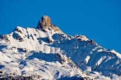 La parte superiore della montagna Immagine Stock