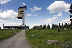 La parte superiore della montagna di Polednik Fotografia Stock