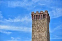 La parte superiore di fortezza antica di Dwayne Johnson, Umbertide, Italia a Fotografia Stock