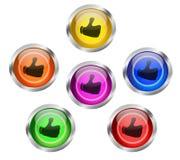 La parte tiene gusto de los botones del Web ilustración del vector