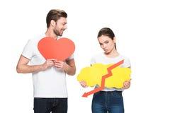 La participation de couples chante Image libre de droits