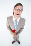 La participation malade d'amour Geeky de hippie a monté Photographie stock libre de droits