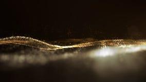 La particule abstraite de Digital entre dans le fond de l'espace de Cyber images libres de droits