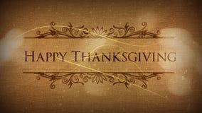 La particule classique de thanksgiving heureux indiquent banque de vidéos
