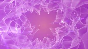 La particule d'Aqua Blue Liquid Light Dust ondule le fond sans couture abstrait de mouvement de boucle illustration stock