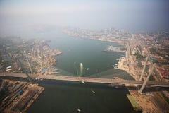 La partie centrale de Vladivostok, prise d'une taille image stock