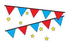 La partie décorative marque accrocher avec le vecteur d'icônes d'étoiles illustration stock