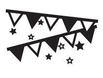 La partie décorative marque accrocher avec le vecteur d'icônes d'étoiles illustration libre de droits
