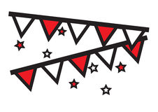 La partie décorative marque accrocher avec le vecteur d'icônes d'étoiles illustration de vecteur