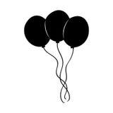La partie décorative monte en ballon l'air Photo stock