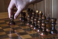 La partie d'échecs Photos libres de droits