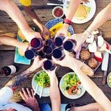 La partie de célébration de déjeuner de nourriture assaisonne le concept Photographie stock libre de droits
