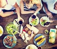 La partie de célébration de déjeuner de nourriture assaisonne le concept photo libre de droits