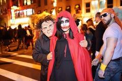 La partie 2015 de défilé de Halloween de village 10 Photo libre de droits