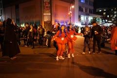 La partie 2015 de défilé de Halloween de village 57 Photographie stock libre de droits