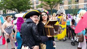 La partie 2015 de défilé de sirène 7 33 Image libre de droits