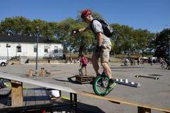La partie 84 de festival de monocycle de 2015 NYC Photographie stock libre de droits