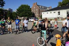 La partie 43 de festival de monocycle de 2015 NYC Image libre de droits