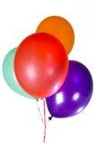 La partie de joyeux anniversaire monte en ballon la décoration image libre de droits