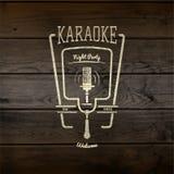 La partie de karaoke badges des logos et des labels pour utilisation Images libres de droits