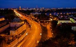 La partie de nuit de la ville Photographie stock libre de droits