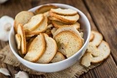 La partie de pain ébrèche (le foyer sélectif) photographie stock
