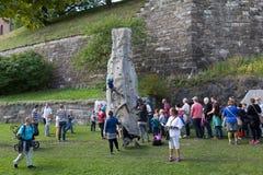 La partie des enfants à la forteresse d'Akershus Oslo norway Photographie stock libre de droits