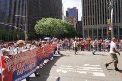 La partie dominicaine 25 de défilé de jour de 2015 NYC Photographie stock libre de droits
