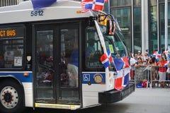La partie dominicaine 63 de défilé de jour de 2015 NYC Photos libres de droits