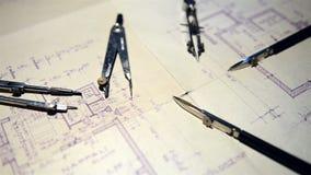 La partie du projet architectural banque de vidéos