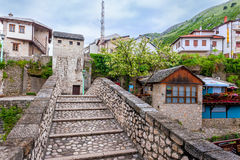 La partie historique de la ville de Mostar a été établie principalement au 16ème siècle et est maintenant une attraction touristi Photo libre de droits