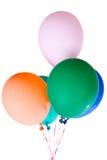 La partie monte en ballon multicolore coloré de décoration Images stock