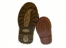 la partie plus inférieure des chaussures de bébé uniques Images libres de droits